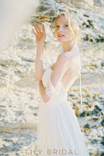A-line Sweetheart Off-the-shoulder Court Train Wedding Dress