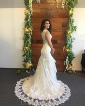 Ivory Cap Sleeve Sweetheart Dropped Waist Wedding Dress