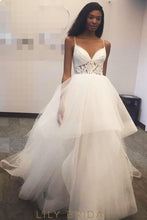 Ivory Tulle Sleeveless Ball Gown with Envelope Back Style