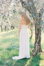 wedding dress with strapless sweetheart chiffon empire waist