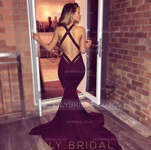 Low V-Neck Criss-Cross Back Burgundy Court Train Evening Dress