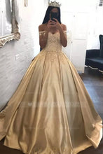 Luxury Applique Off Shoulder Long Solid Pleated Satin Ball Gown Prom Dress