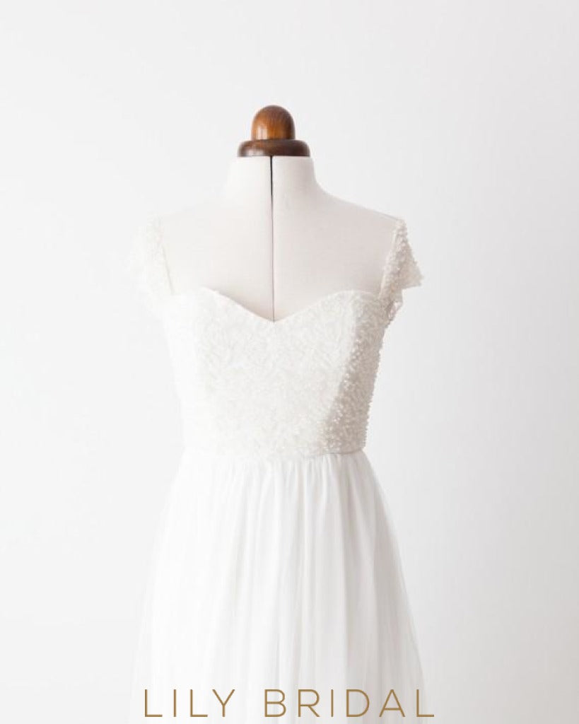 A-line Sweetheart Off-the-shoulder Wedding Dress