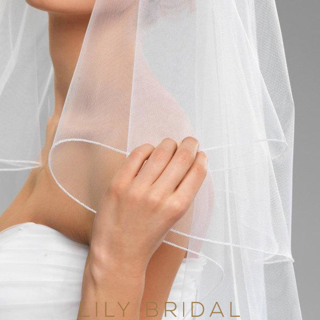 Chic One LayerPencil Edge Veil