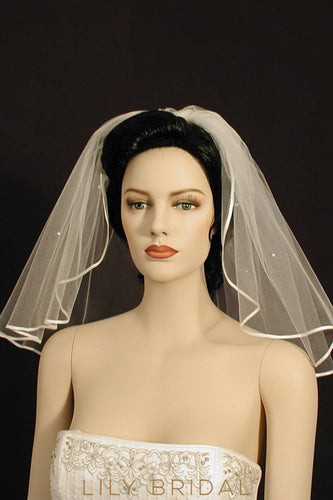 pearl beaded veil