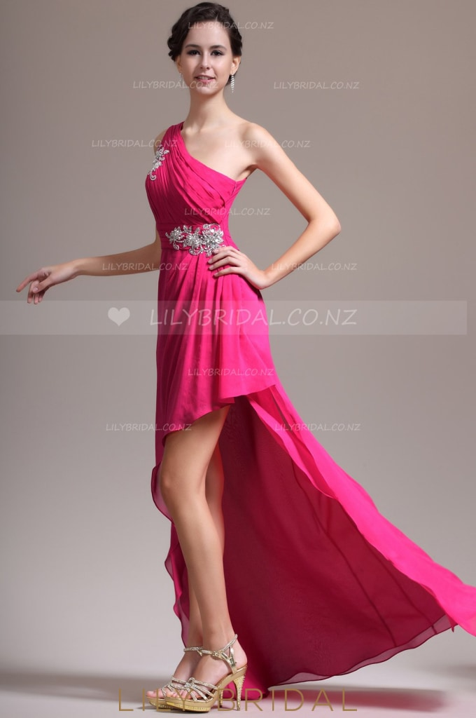 one-shoulder-ruched-high-low-chiffon-evening-dress