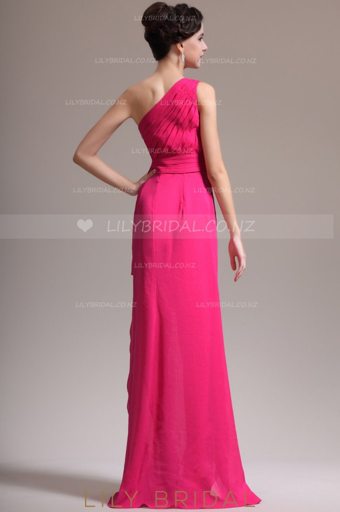 one-shoulder-ruched-chiffon-evening-dress-with-exquisite-applique