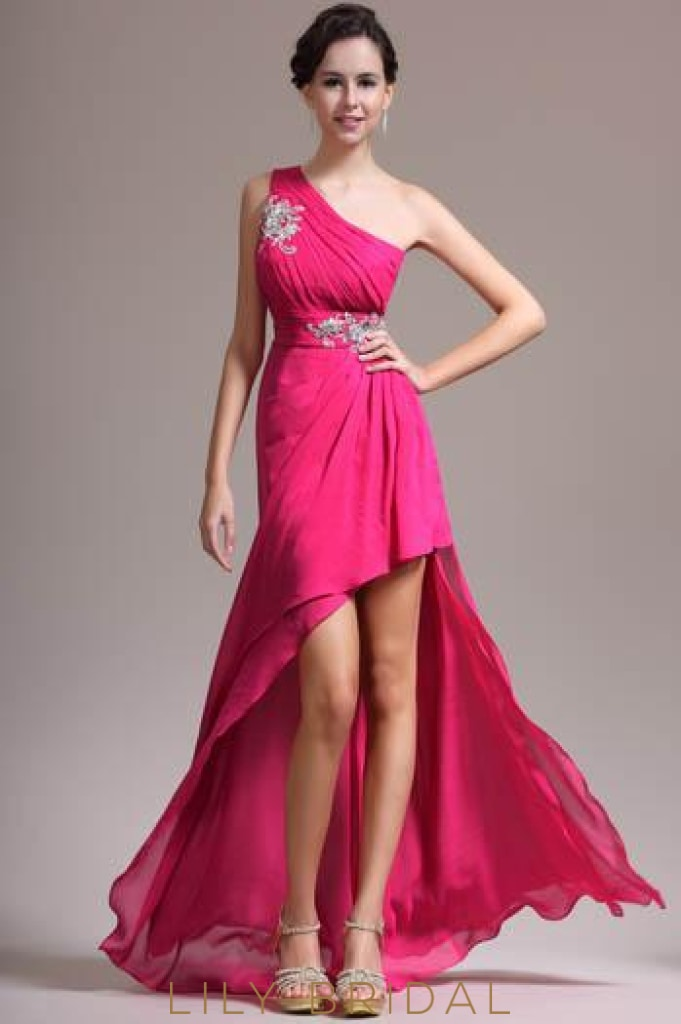one-shoulder-ruched-high-low-chiffon-evening-dress-with-exquisite-applique