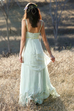 Chiffon Spaghetti Strap  Floor-Length Layered Bridesmaid Dress With Beads