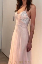 Spaghetti Strap A-Line Floor-Length Tulle Bridesmaid Dress With Paillette