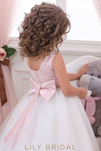 Bateau Beaded A-Line Floor-Length Tulle Flower Girl Dress