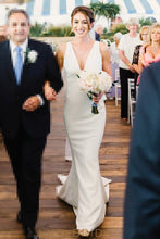 Plunging V-Neckline Wedding Dress
