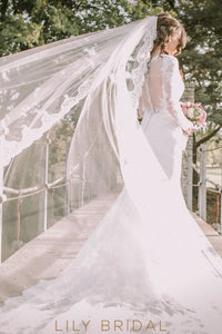 cathedral length weeding veil