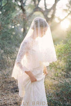 fingertip length weeding veil