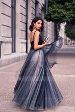 Elegant V-Neck Sleeveless Floor-Length Pleated Sheath Tulle Evening Dress