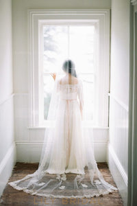 Single Layer Chapel Wedding Veil With Gorgeous Lace Applique