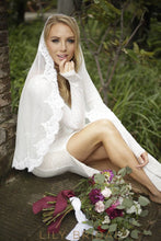 single tier lace edge veil