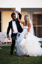 Gorgeous Sweetheart Sleeveless Long Solid Tulle Ball Wedding Gown with Sweep Train