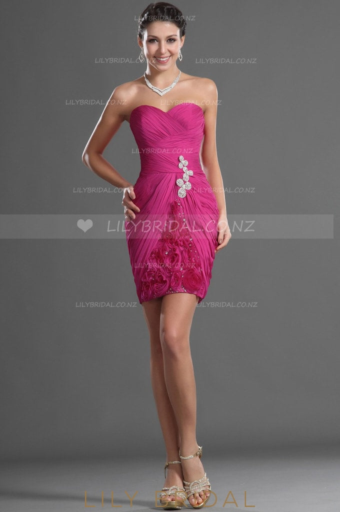 sweetheart-strapless-ruched-cocktail-dress-with-beads