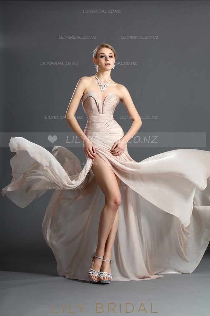 sweetheart-sexy-high-thigh-split-chiffon-evening-dress-with-ruching