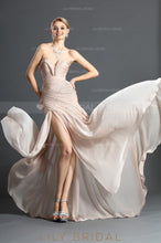 sweetheart-strapless-high-thigh-split-chiffon-evening-dress-with-ruching