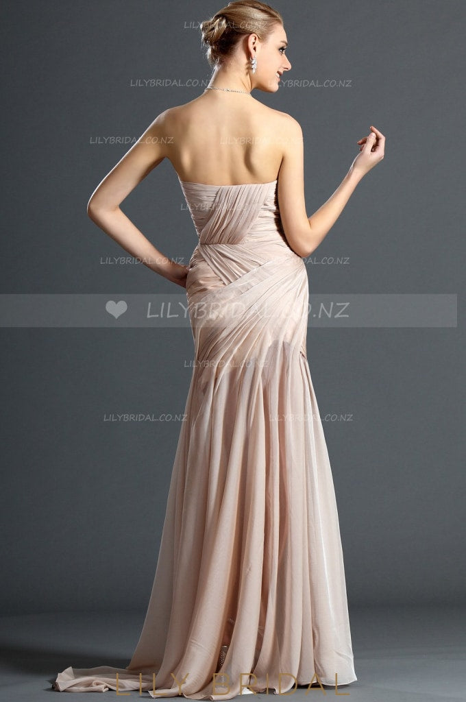 sweetheart-strapless-sexy-high-thigh-split-chiffon-evening-dress-with-ruching-2