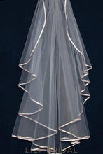 Trendy One Tier Sheer Tulle Wedding Veil with Ribbon Edge