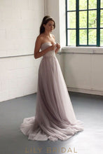 Tulle Wedding Dress with Strapless Sweetheart Neckline