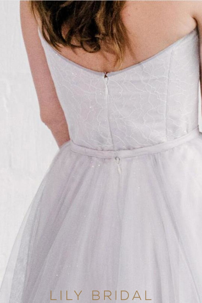 Tulle A-Line Wedding Dress Sweetheart Neckline