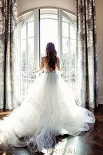 Rustic Ball Gown Wedding Dress Long Sleeve V Neckline and Illusion Lace
