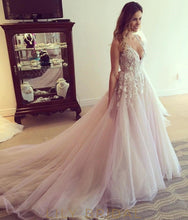 Tulle A-line Wedding Dress with Cutout Back Design
