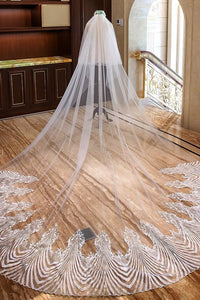 two tier cathedral weeding veil