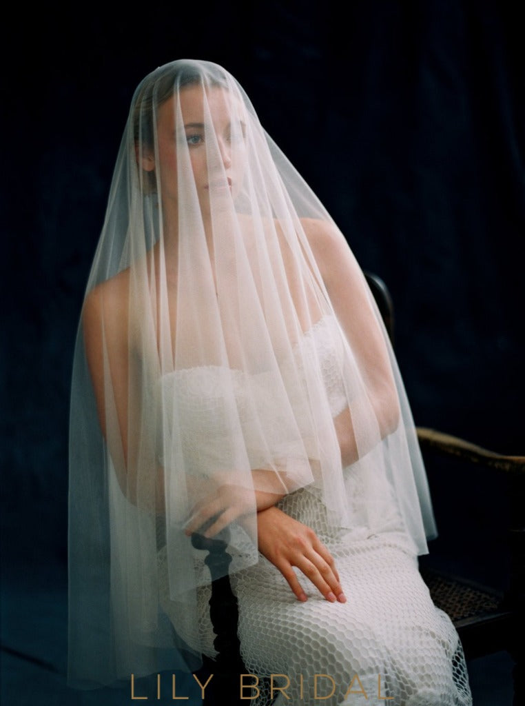 double layer bridal veil