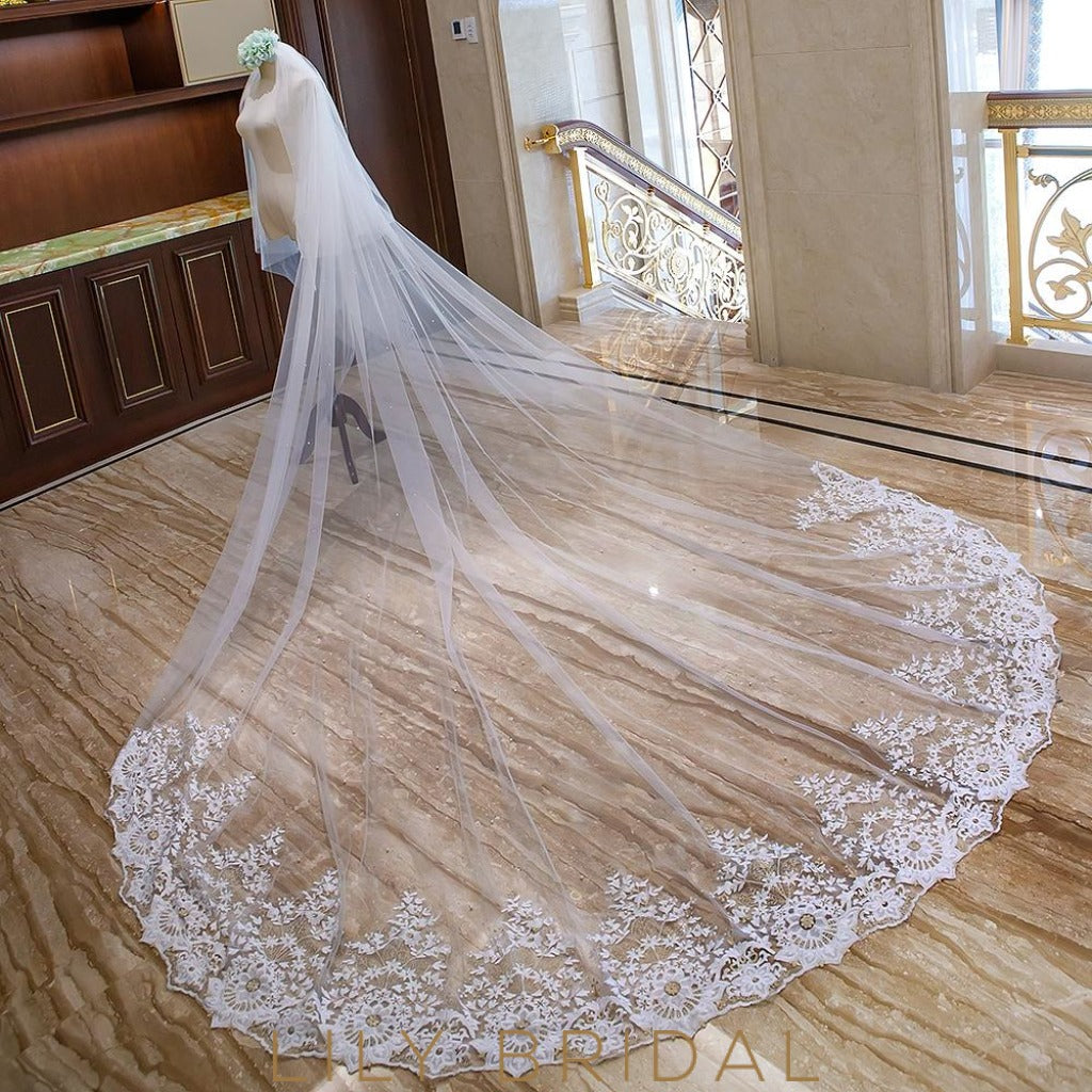 embroidery cathedral veil