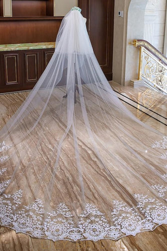 embroidery weeding veil