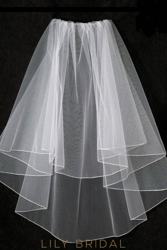 pencil edge weeding veil