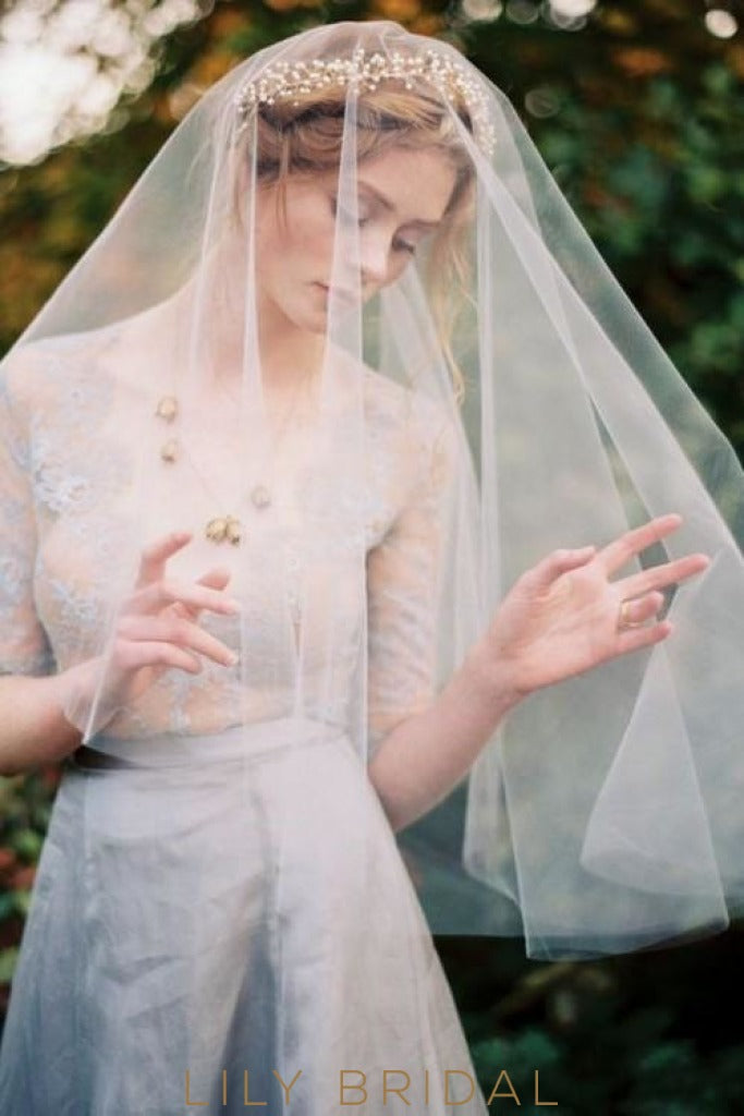 cut edge weeding veil
