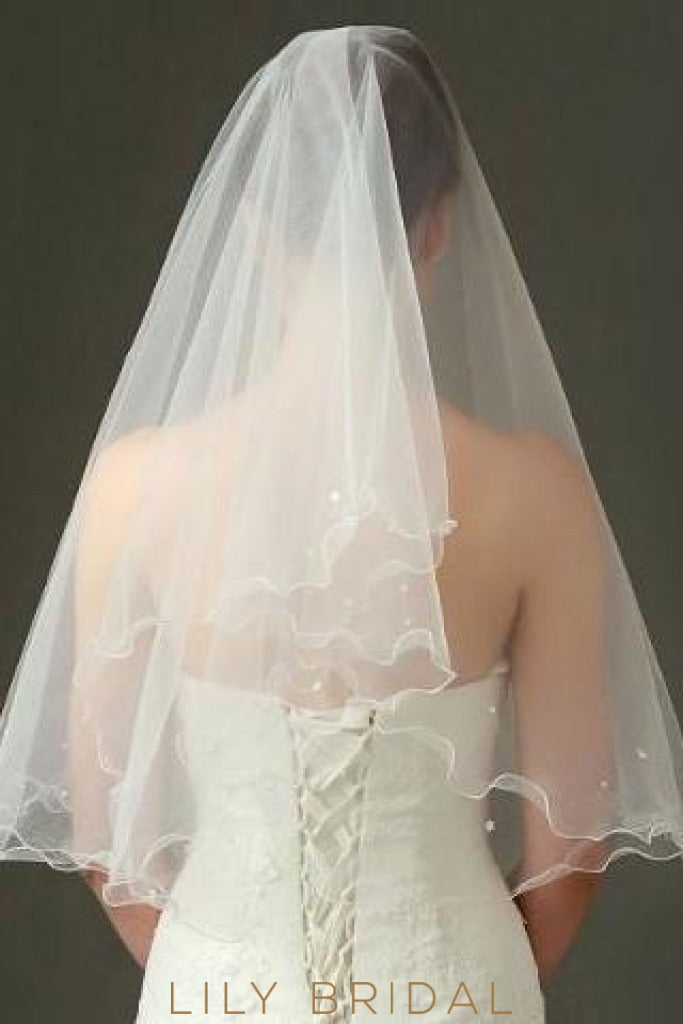 crystal beaded weeding veil