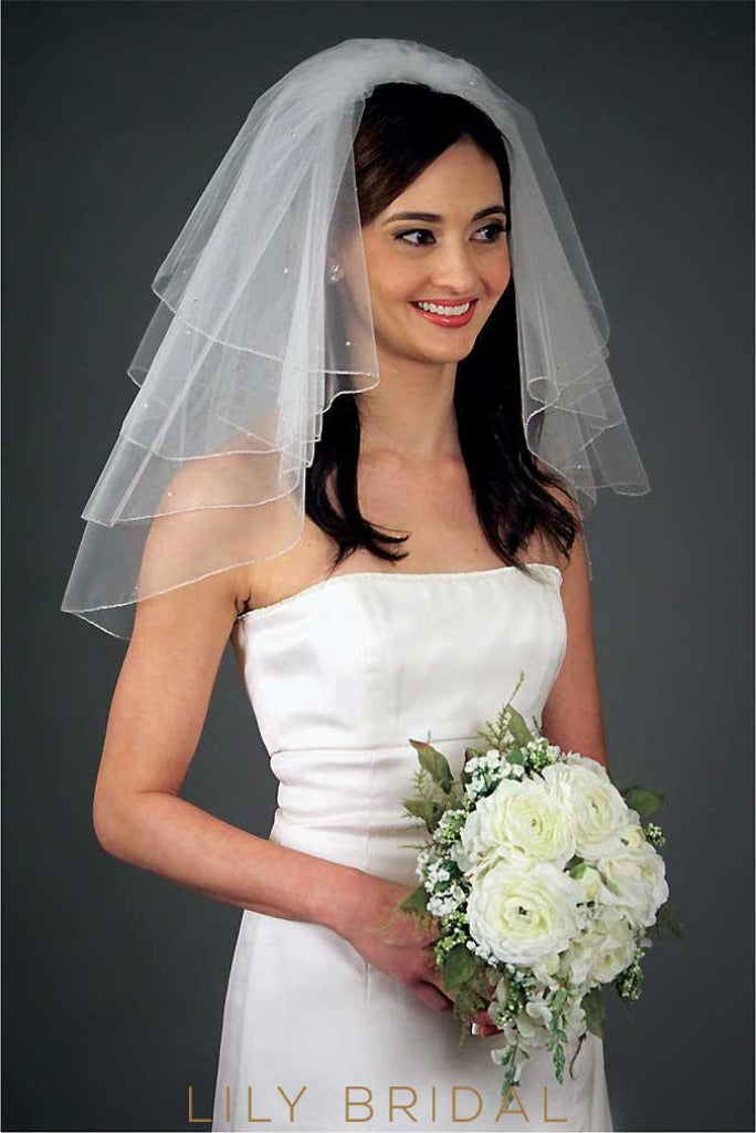 four tier weeding veil