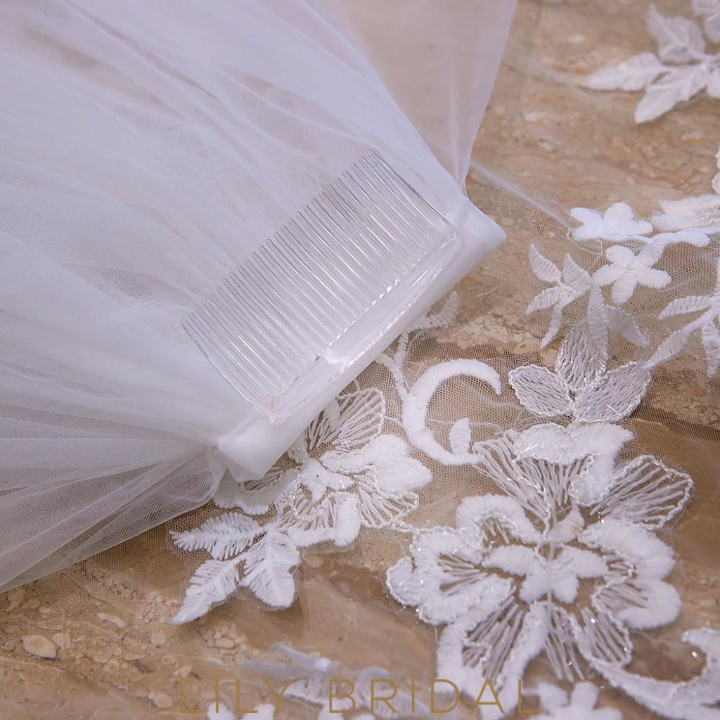 two tier weeding veil