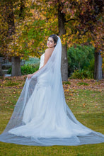 cathedral veil in silk effect tulle