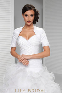Short Sleeve Satin Bridal Shrug