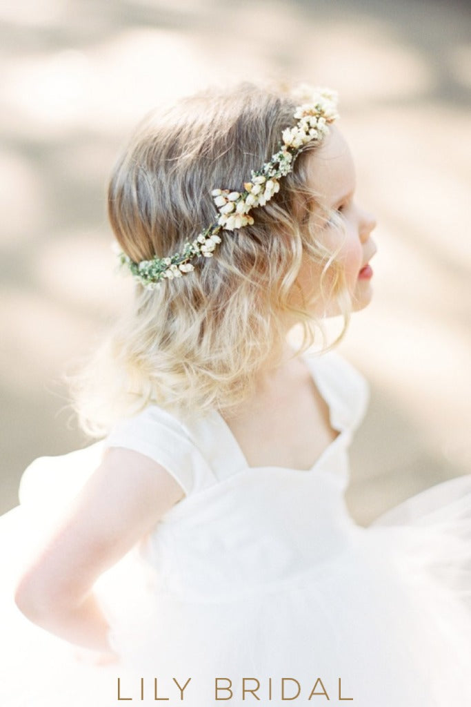 White Cap Sleeve Sweetheart Floor-Length Ball Gown Flower Girl Dress With Bowknot