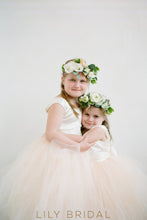 Ball-Gown Scoop Neck Floor-Length Tulle Flower Girl Dress