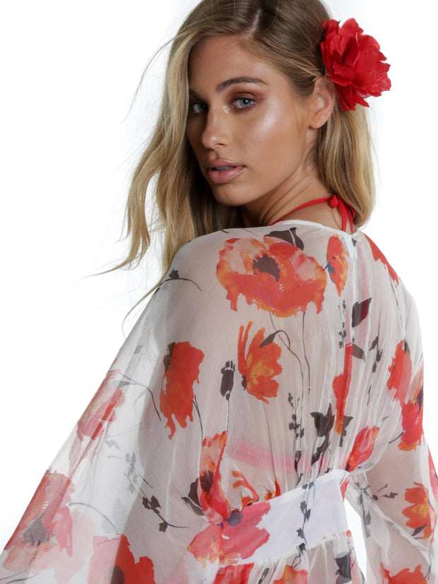 ISCHIA COVER UP POPPY