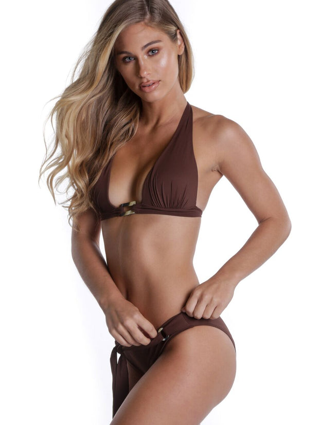 MYKONOS TOP KINDER BROWN