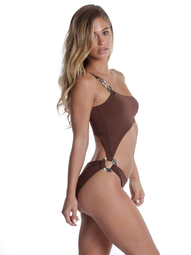 SARDINIA ONE PIECE KINDER BROWN