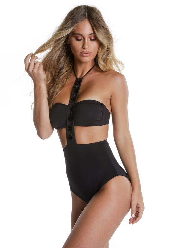 POSITANO ONE PIECE NERO
