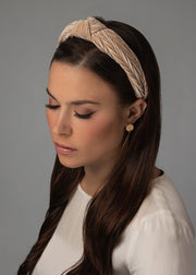 Blush Velvet Knot Headband
