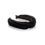 Black Velvet Knot Headband
